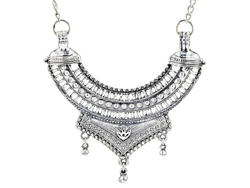 Photo of Artisan Collection Of India™ Oxidized Sterling Silver Statement Necklace - Size 18