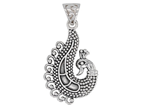 Photo of Artisan Gem Collection Of India, Sterling Silver Peacock Pendant