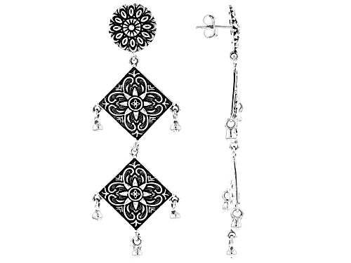 Photo of Artisan Collection Of India™ Floral Design Sterling Silver Filigree Dangle Earrings