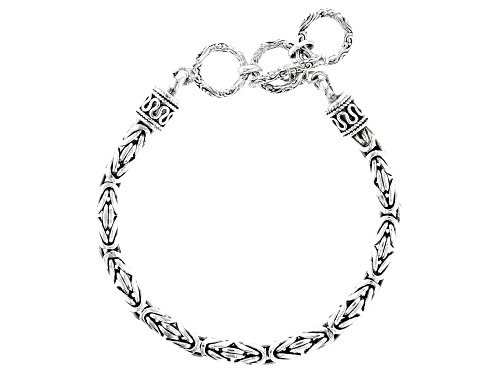 Photo of Artisan Collection Of India™ 5MM Sterling Silver Byzantine Bracelet. - Size 7.25