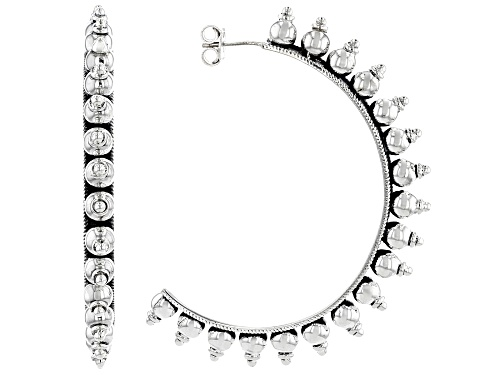 Photo of Artisan Collection Of India™ Sterling Silver J-Hoop Earrings