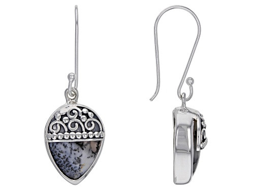 Photo of Artisan Collection Of India™ Pear Shape Dendritic Opal Sterling Silver Earrings