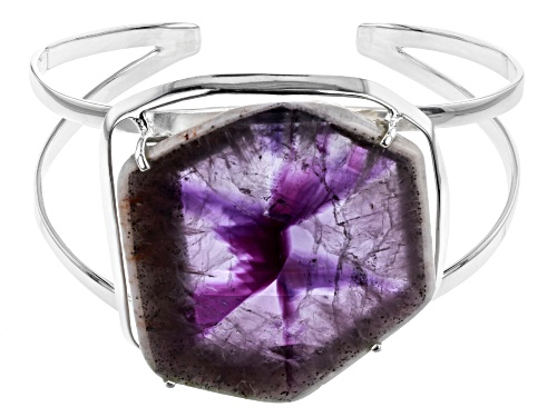 Photo of Artisan Collection Of India™ Free Form Chevron Lace Amethyst Slice Sterling Silver Cuff Bracelet - Size 8