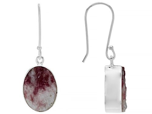 Photo of Artisan Collection Of India™ 16x12mm Oval Pink tourmaline in quartz Rough Silver Earrings