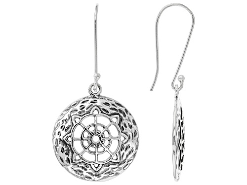 "Photo of Artisan Collection of India™ .98"" Round Disc, Sterling Silver Dangle Earrings"
