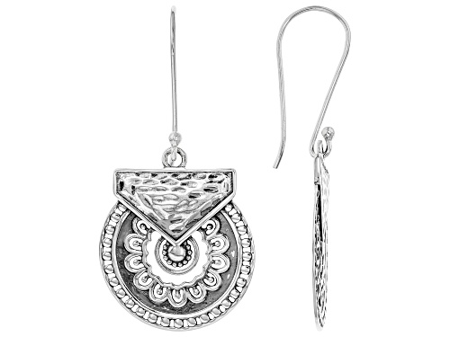 "Photo of Artisan Collection of India™ .97"" Round Disc Sterling Silver Dangle Earrings"