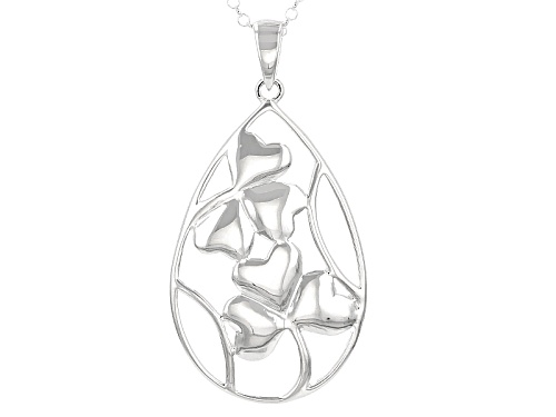 Photo of Artisan Of Ireland™ Doouble Shamrock Design Sterling Silver Pendant With Chain