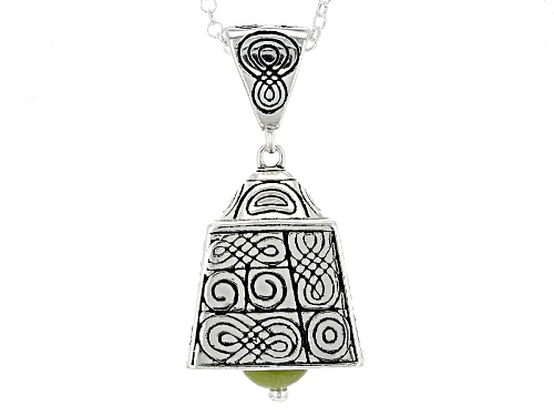 Photo of Artisan Collection Of Ireland™ 6mm Connemara Marble Silver St. Patrick's Bell Pendant With Chain