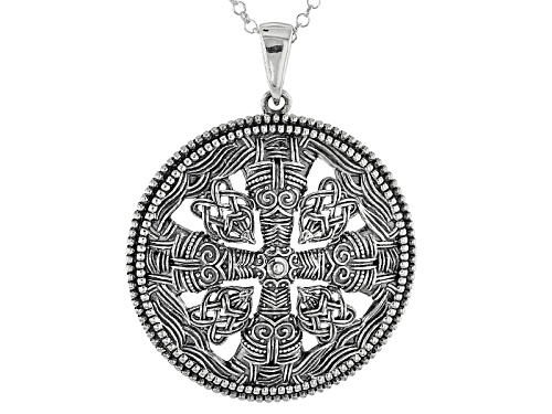 Photo of Artisan Collection Of Ireland™ Oxidized Sterling Silver Cross Pendant With Chain