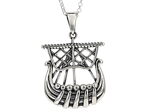 Photo of Artisan Collection Of Ireland™ Sterling Silver Viking Ship Pendant With Chain
