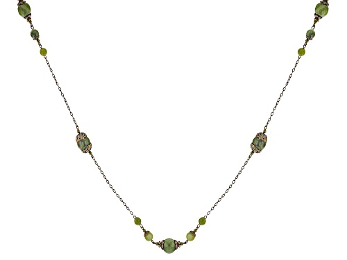 Photo of Artisan Collection Of Ireland™ Connemara Marble Brass Castletown House Necklace - Size 60