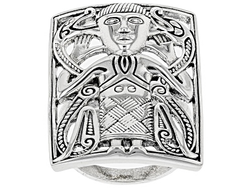 Photo of Artisan Collection Of Ireland™ Viking Man Rectangular Sterling Silver Ring - Size 5