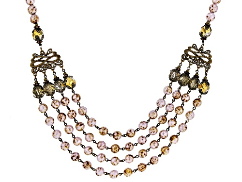Photo of Artisan Collection of Ireland™ 8mm Multi-Color and 9.5mm Bronze Tone Glass Bead 4-Strand Necklace - Size 20
