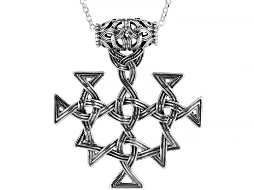 Photo of Artisan Collection Of Ireland™ Sterling Silver Viking Design Pendant/Slide With Chain