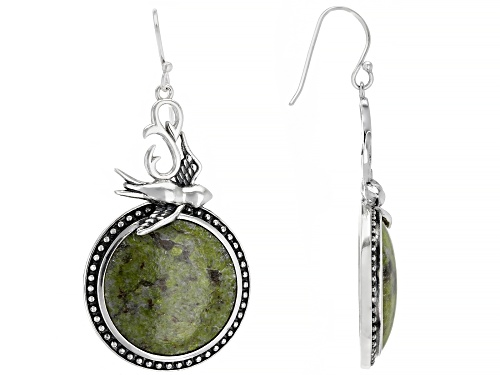 Photo of Artisan Collection of Ireland™ Round Connemara Marble Sterling Silver Earrings