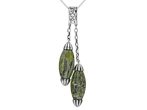 Photo of Artisan Collection of Ireland™ Carved Connemara Marble Sterling Silver Pendant With Chain