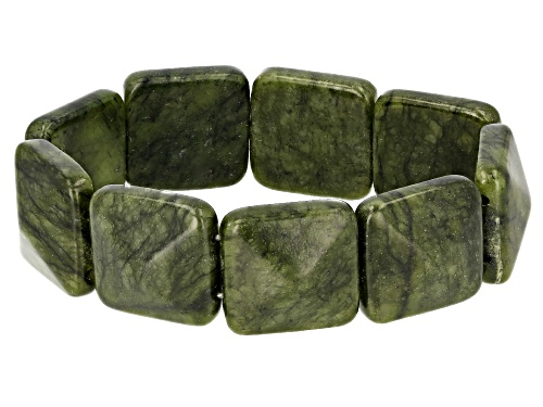 Photo of Artisan Collection of Ireland™ 23x23mm Connemara Marble Station Stretch Bracelet
