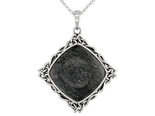 Photo of Artisan Collection of Ireland™ Connemara Marble Sterling Silver Celtic Pendant With Chain