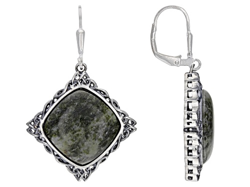 Photo of Artisan Collection of Ireland™ Connemara Marble Sterling Silver Celtic Earrings.