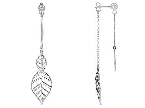 Photo of Artisan Collection Of Israel™ Sterling Silver Double Leaf Dangle Earrings