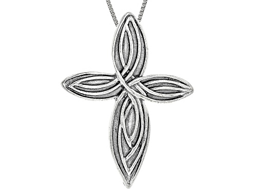 "Photo of Artisan Collection of Israel™ Sterling Silver Cross Pendant With 24"" Chain"