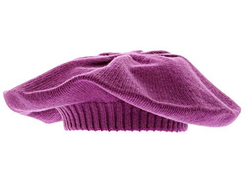 Photo of Joan Boyce, Purple Plumberry 100% Cashmere Beret