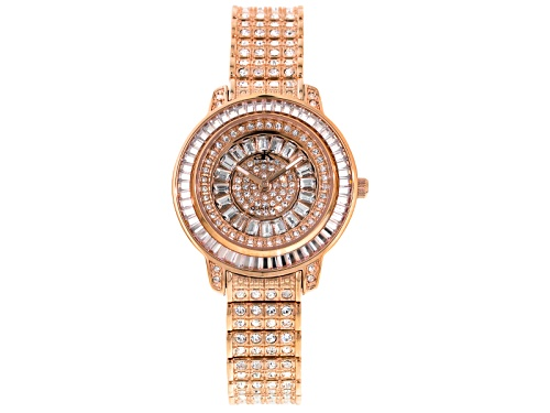 Photo of Adee Kaye Beverly Hills White Crystal Rose Gold Tone Watch