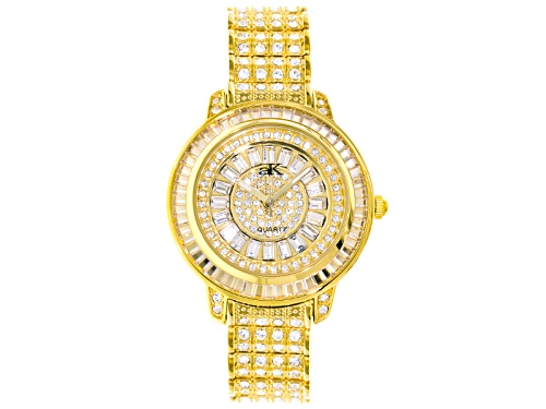 Photo of Adee Kaye Beverly Hills White Crystal Yellow Watch