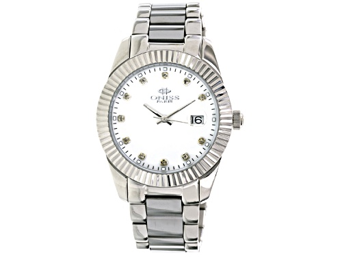 Photo of Oniss Stainless Steel And Tungsten Sapphire Mother Of Pearl Dial Silver Tone Watch