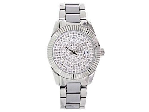 Photo of Oniss Womens White Crystal Silver Tone Watch