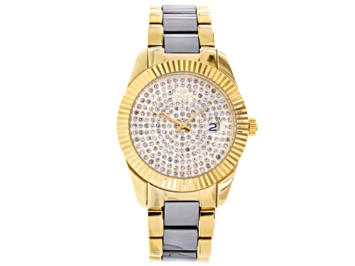 Photo of Oniss Ladies White Crystal Two Tone Watch
