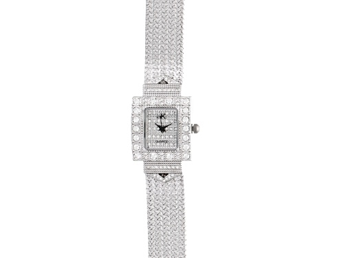 Photo of Adee Kaye Beverly Hills White Crystal Silver Tone Watch