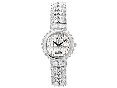 Photo of Adee Kaye Beverly Hills, Ladies White Crystal Silver Tone Watch
