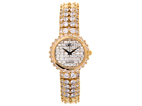 Photo of Adee Kaye Beverly Hills, Ladies White Crystal Yellow Watch
