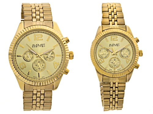 Photo of His & Hers Gold Tone Watch Set Of 2