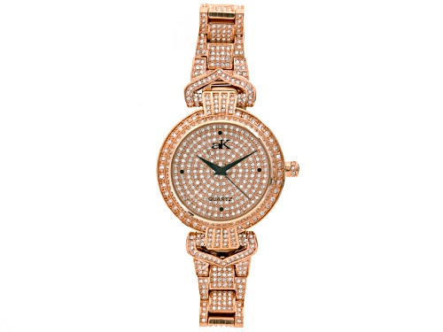 Photo of Adee Kaye Beverly Hills ™ White Crystal Rose Tone Watch