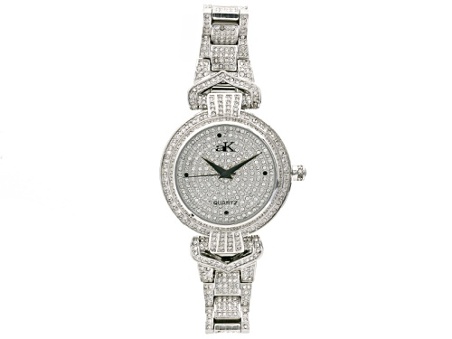 Photo of Adee Kaye Beverly Hills ™ White Crystal Silver Tone Watch