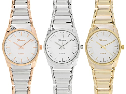 Photo of Geneva Ladies Three-Tone Watch Set Of 3