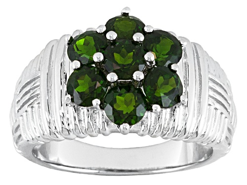 Photo of 1.85ctw Round Chrome Diopside Sterling Silver Ring - Size 9