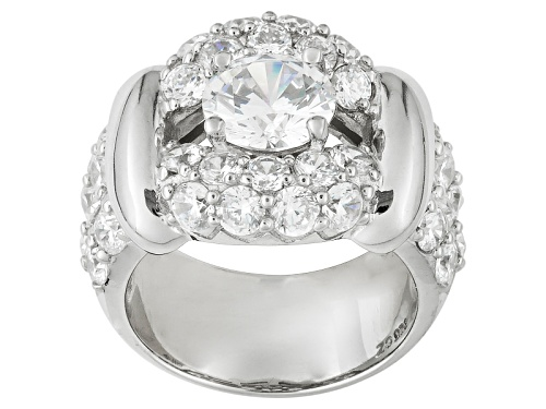 Photo of Jose Hess ™ For Bella Luce ® 9.04ctw Rhodium Over Sterling Silver Ring - Size 5