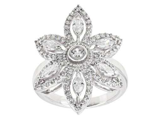 Photo of Jose Hess ™ For Bella Luce ® 2.81ctw Round & Marquise Rhodium Over Silver Ring - Size 5