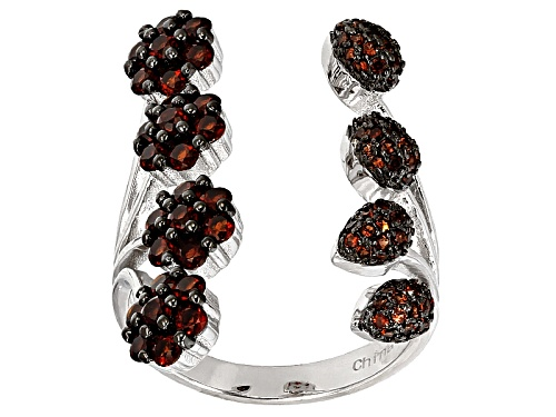 Photo of 1.51ctw Round Vermelho Garnet™ Sterling Silver Ring - Size 6