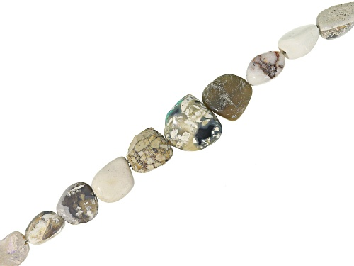 Photo of Rough Australian Opal in Matrix Graduated appx 4-9mm Bead Strand appx 18""