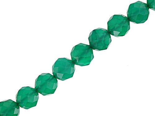 Green Onyx Faceted appx 3mm Bead Strand appx 15-16