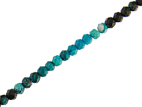 """Photo of Chryscolla Faceted Round appx 2.5mm Bead Strand appx 18"""""""