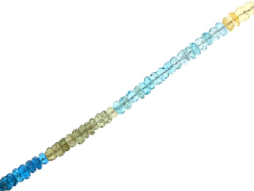 "Photo of Multi Apatite Appx 4mm Faceted Rondelle Bead Strand Appx 15-16"" in length"