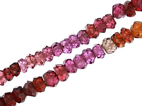 Photo of Garnet and Zircon Necklace & Bracelet Bead Strand Set