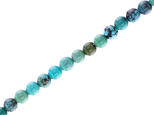 "Photo of Turquoise Round Appx 2mm Bead Strand Appx 15-16"" in length"