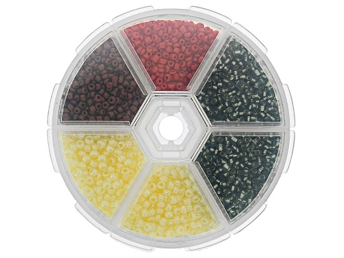 Photo of Seed Bead Set in Assorted Sizes and Colors in Storage Case