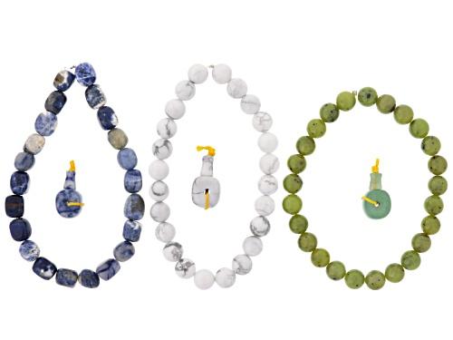 Photo of Dakota Stones™ Mala Cool Boho Stack Bead Set Incl 3 Bead Strands And 3 Mala Beads